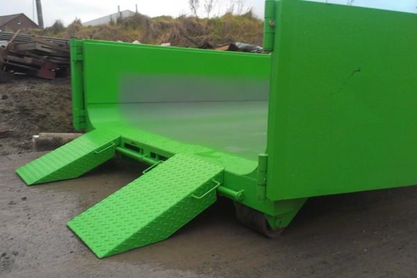 Containers Groen met oprijplaten
